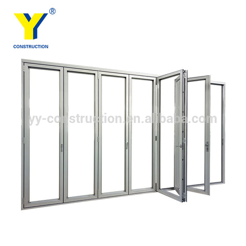 exterior prices large aluminium sliding folding garage accordion patio doors / folding doors/YY Windows Sydney on China WDMA
