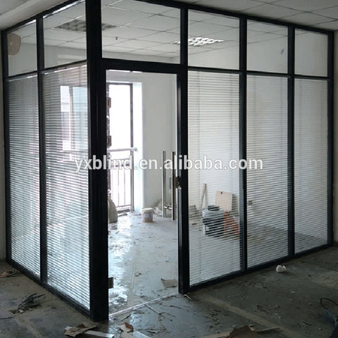 factory price window aluminum built in double glass office venetian blinds inside double glass window on China WDMA