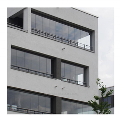 factory supply frameless aluminium sliding folding glass window doors transparent for glass curtain system on China WDMA