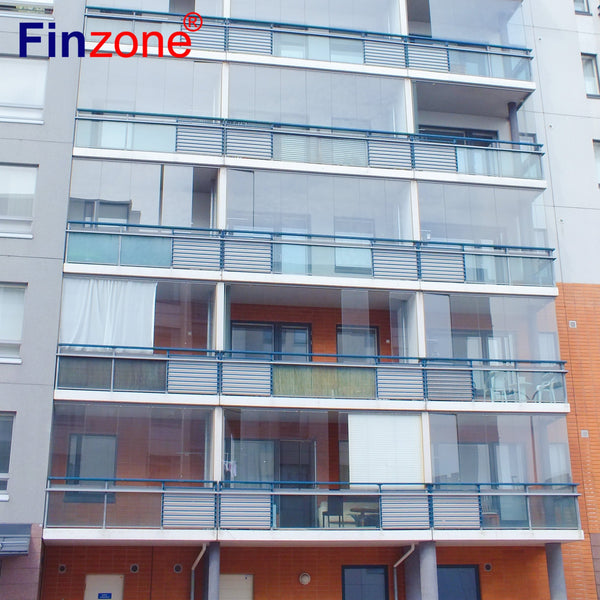 fashionable slide and turn frameless glazing system for balcony folding window on China WDMA