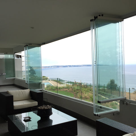 frameless bi fold window used as balcony glass system on China WDMA