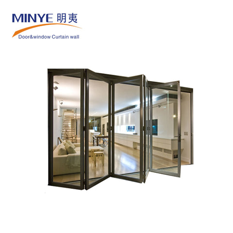 frameless bifolding patio internal sliding glass door on China WDMA