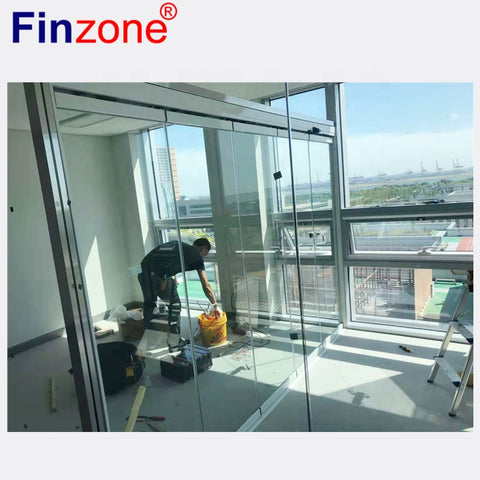 frameless folding glass sliding door export to Australia for balcony terrace patio apartment on China WDMA
