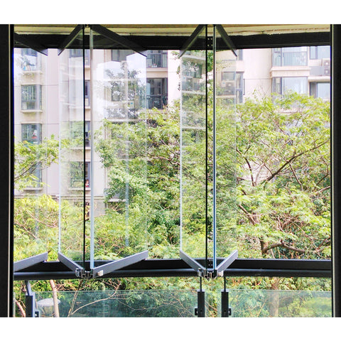 frameless folding safety glass bifold windows price on China WDMA
