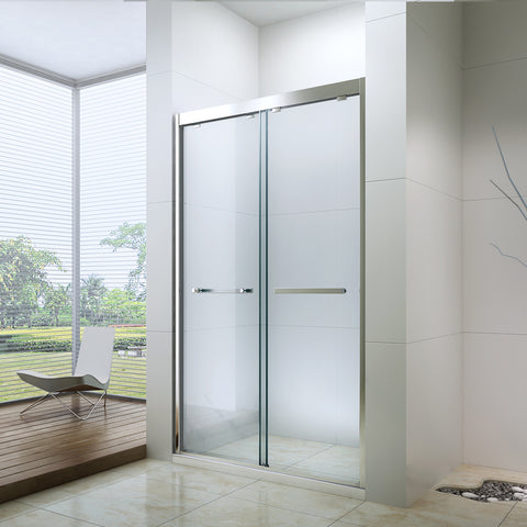 fully frameless shower glass, shower screen for north american,sliding shower door on China WDMA