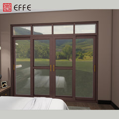 heavy building material big space 3-track aluminum tilt thermal break sliding door on China WDMA
