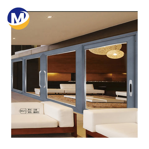 high quality Profile French Picture Aluminum alloy frame double glass casement Window And Door on China WDMA