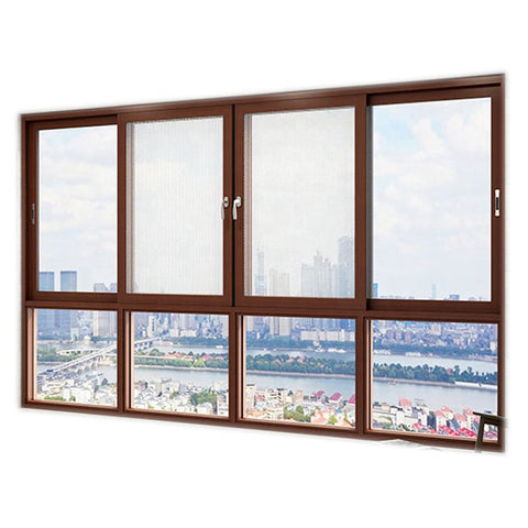 high quality aluminum wood color online up down sliding window price philippines on China WDMA