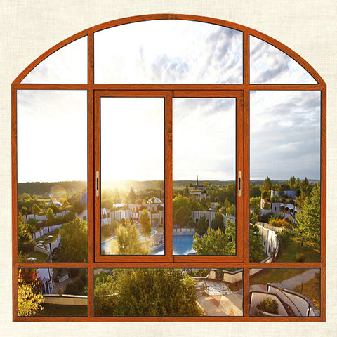 high quality american standard bronze newest safety water proof 12mm aluminium frame sliding glass window on China WDMA