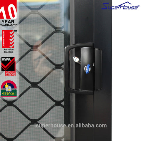 high security AS2047 standard single pane sliding windows with double glass on China WDMA