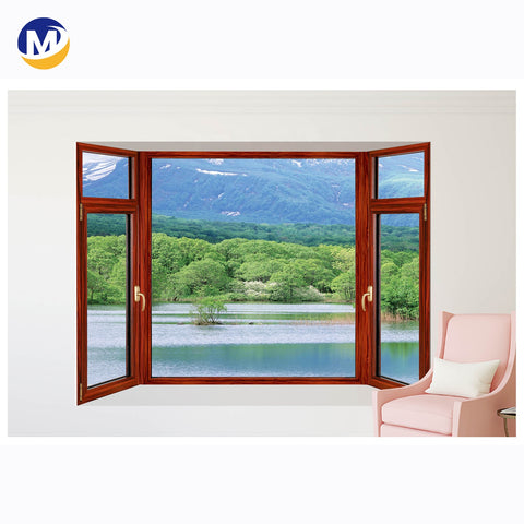 hot sale Cheap Sound Proof Aluminum Open French black Casement Window Frame profile Details on China WDMA