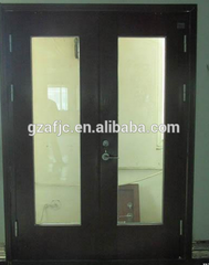 hot sale fireproof glass door, fire rated interior doors, double glass windows price on China WDMA