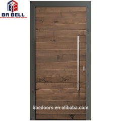 hot sale walnut latest design main solid teak wood sliding door with high quality on China WDMA
