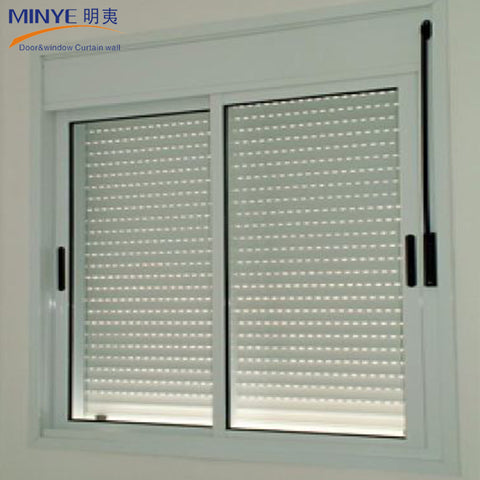 hot sales and high-quality shutter louver window with pvc upvc vinyl profile double tempered glass on China WDMA