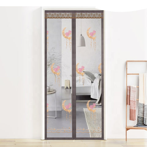 hot sell new products retractable Mosquito net door Curtain Hands Free magnetic door screen curtain on China WDMA
