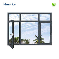 hot selling grey aluminum frame glass windows Chinese supplier HCW50 on China WDMA
