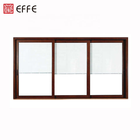 hurricane proof impact soundproof tempered multi sliding glass door with blinds on China WDMA