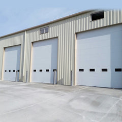 industrial good quality steel overhead electric sliding up thermal insulated loading bay sectional dock doors for cold room on China WDMA