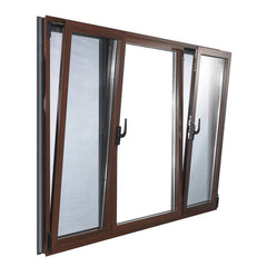kerala house main door window grill aluminum tilt turn glass window bronze color on China WDMA