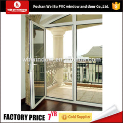 lamination door external profile pvc double insulated casement glass door on China WDMA