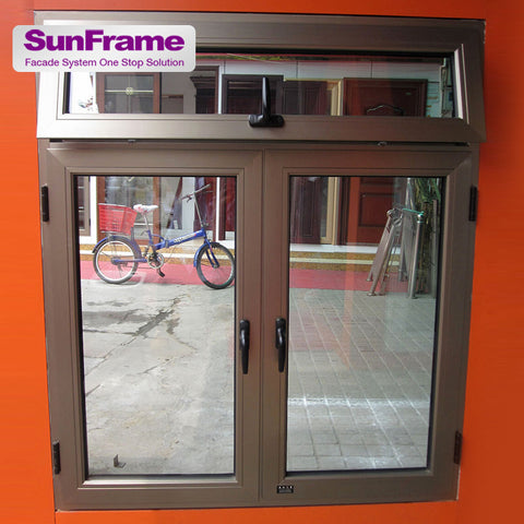 large double hung casement and awning windows aluminium top hung window design modern aluminum awning window on China WDMA