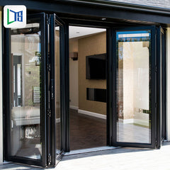 living room aluminium sliding bifold doors decorative interior double bifold doors on China WDMA