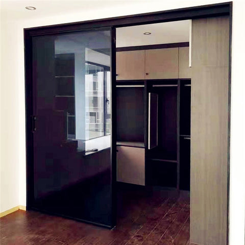 living room tempered double glass home large bifold closet doors french bi fold external aluminium on China WDMA
