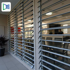 louvers for window frame aluminum horizontal blade sun shade building louvers aluminum facade louver on China WDMA