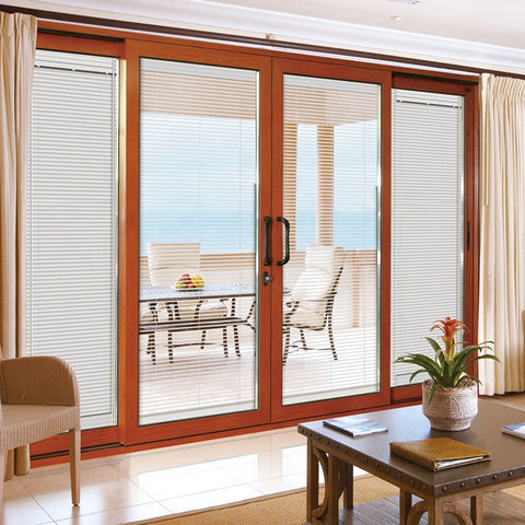 lowes louver sliding aluminium glass screen door with blinds for toilet philippines price and design on China WDMA