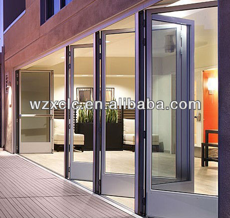 lowes waterproof and sound insulated glass folding patio doors on China WDMA