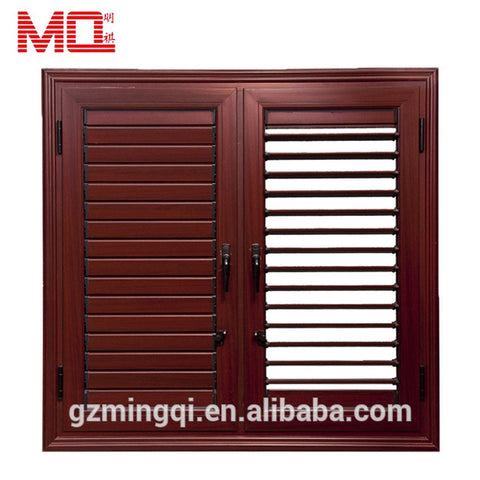 luxury home design PVC faux wood sun shade window blinds windows with built in blinds on China WDMA