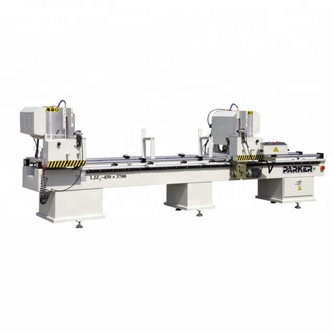 machines for making upvc windows / double head cutting saw machine on China WDMA