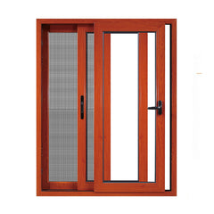 manufacturer horizontal glass color section detail aluminium frame fixed sliding window on China WDMA