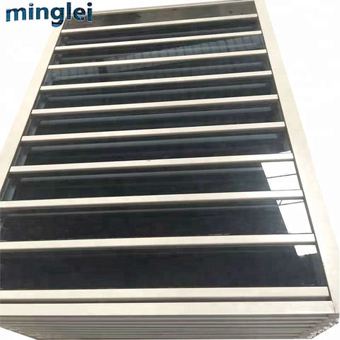 modern new thin frame aluminum windows anodised aluminium louvre windows on China WDMA