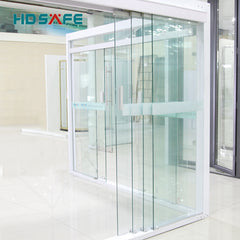 modern single 3 panel sliding glass door accessories for office on China WDMA