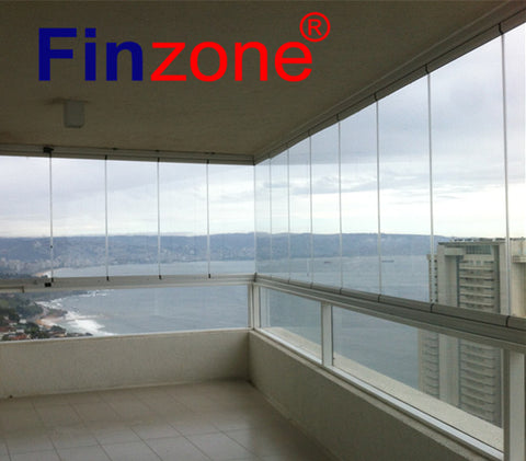 new designed frameless folding balcony glazing window system with amazing price on China WDMA
