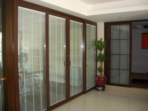 new model windows with blinds between glass for house on China WDMA