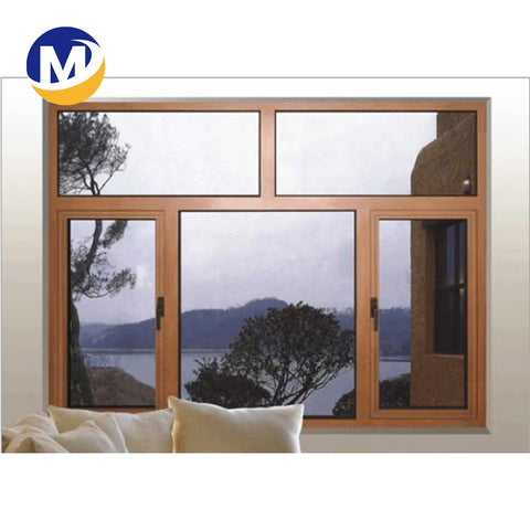 newest design Cheap Window Fashion Casement Aluminum double Glass casement Windows profile on China WDMA