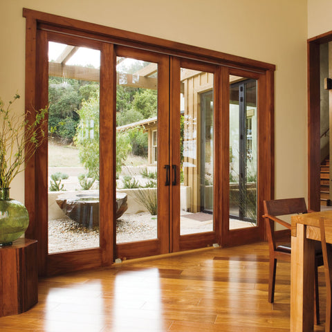 patio doors 4 panel sliding patio doors exterior glass door on China WDMA