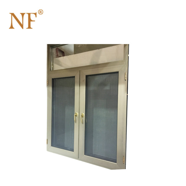 patio french aluminum swing out window with roller shutter on China WDMA