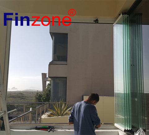 popular frameless balcony glazing folding glass window with good quality on China WDMA