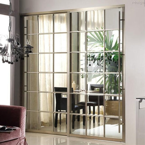 professional Aluminum Glass Patio Exterior Bifold Doors Double Glazing Aluminum Bi Folding Door on China WDMA