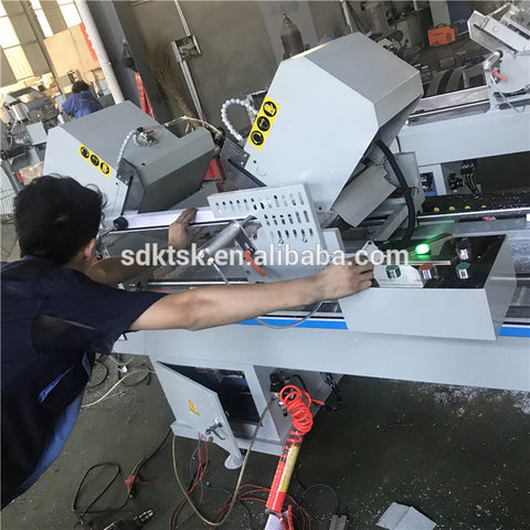 pvc miter saw double head Upvc profile cutting machine window door making machine on China WDMA