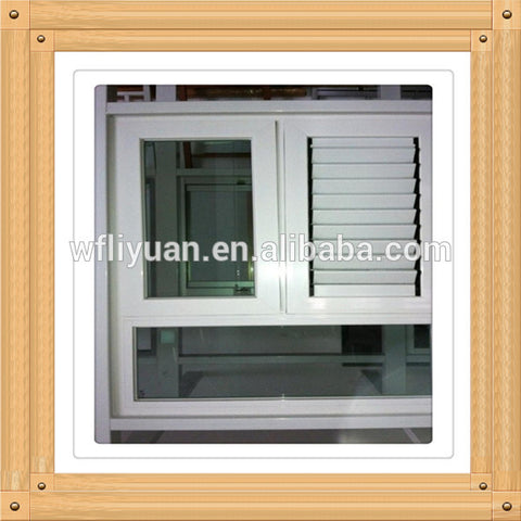 pvc shutter window/upvc windows with blinds/vinyl window with shutter on China WDMA
