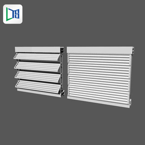 residential fixed louvre window security shutters windows aluminum fixed window shutters for house on China WDMA