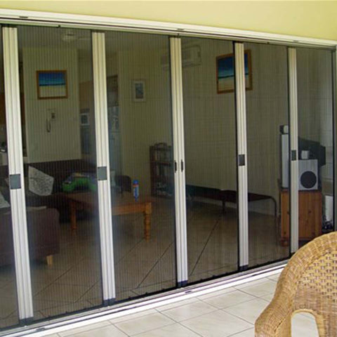 retractable bifold fly screens for sliding doors on China WDMA