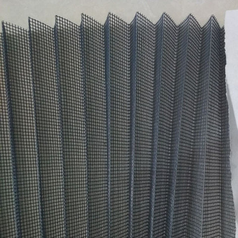 retractable insect window screen/pleated fly screen mesh/foldable insect screen netting on China WDMA