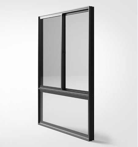 simple iron windows grills design modern house sliding window/sliding window with 4 panels on China WDMA