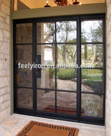 simple style Modern Steel Door folding door with window SD-018 on China WDMA