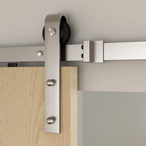 sliding interior french sliding barn door hardware for sale on China WDMA